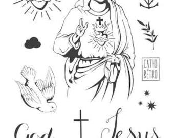 Ephemeral © Catholic Retro tattoos