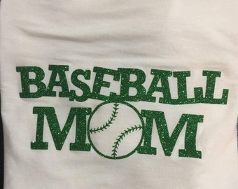 Personalized baseball mom shirt
