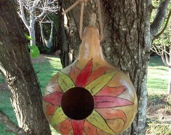 Gourd Birdhouse Co-exist