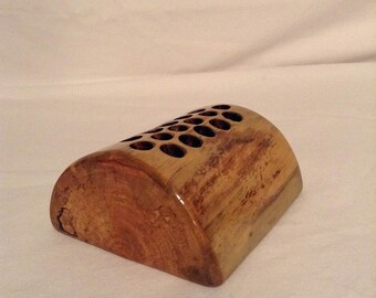 Handmade Wooden Pencil Holder (Bark-less)