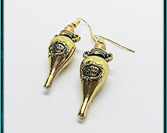 Felix Felicis Earrings (Liquid Luck) Metallic