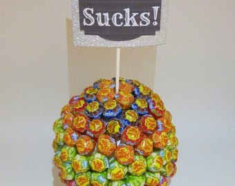 Lollipop tree gift, Lollipop basket, funny birthday gift, gift for him , gift for her, candy tree, candy tree centerpiece