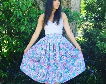 Prettiest of Pretty Spring Floral Skirt