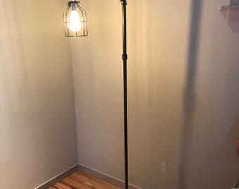 Industrial Standing Reading Lamp