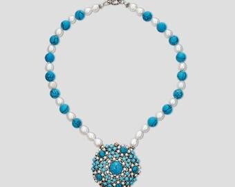 Azul Jewel Vintage Statement necklace Resort wear