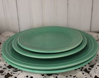 Vintage Fiesta Plates - Green. Luncheon, Cake/Salad, Bread and Butter, FREE SHIPPING!