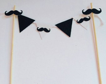 mustache bash, mustache birthday, little man birthday, smash cake topper