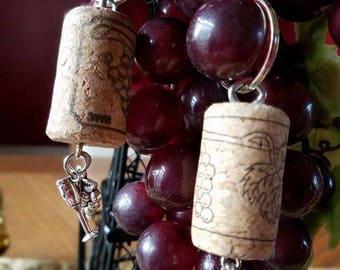 Wine Cork Key Chain