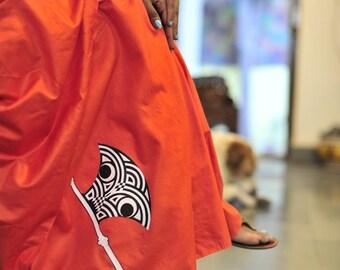 Unique gifts_women- Orange Hand-painted Khadisilk Saree