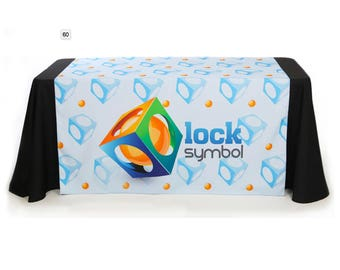 Custom Table Runner, full color print  (Using your Text and logo) Free Online Design