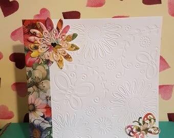 Handmade Embossed Greeting Card
