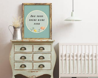 And then there were four | Birds poster | Printable