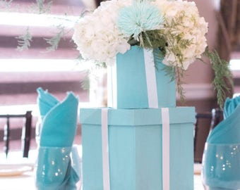 Custom Tiffany Blue Boxes (Flower centerpiece holder)