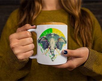 The Magnificent Elephant Unique Mug Animal Coffee Mug Witty Novelty