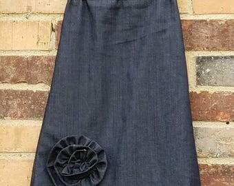 Girls denim skirt | Etsy