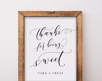 Thanks ForBeing Sweet Dessert Table Sign Printable Download