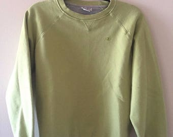 Vintage Champion Lime Green Crewneck Sweatshirt Size Large