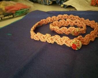 Crochet choker and bracelet set