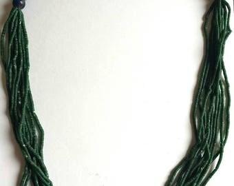 afghan lapis lazuli & jade necklace