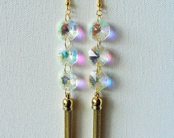 AB Glass bead earrings