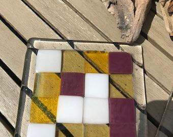 Fused glass coasters (2)
