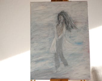 Painting, acrylic, painting, summer, wind and heat, title: - dream day -.