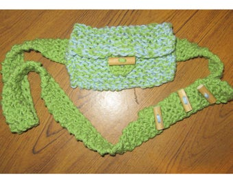 Hand-knitted Belt Bag