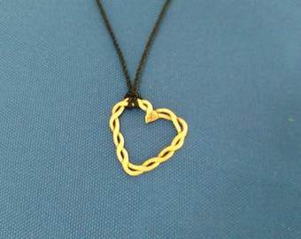 Twisted Copper Heart Necklace