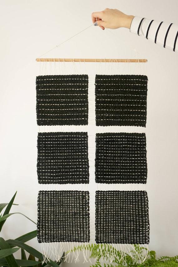 Black shapes | Minimalist wall hanging