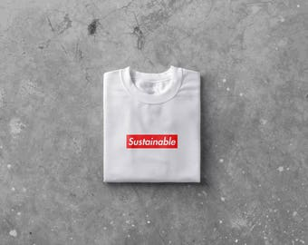 Sustainable Supreme Box Logo Tee