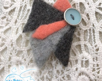Original Needle Felted Pin - Wool Brooch, BFF Gift Ideas, Gift For Mother Birthday, Gifts For Women, Wedding Brooch, Fashion Pin