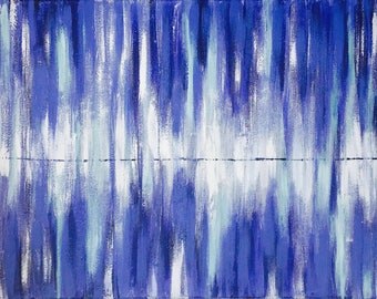Blue painting Canvas art Abstract painting on Canvas Original art Wall Art Abstract Acrylic Painting Abstract Art on Canvas
