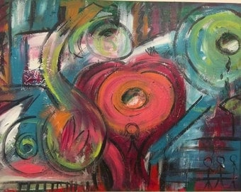 acrylic painting, abstract