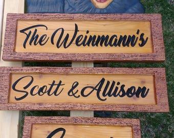 Waving Bear Welcome Sign - Western Red Cedar