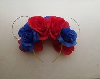 Snow White Inspired Floral Disney Ears