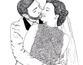 illustration: bridal portraiture