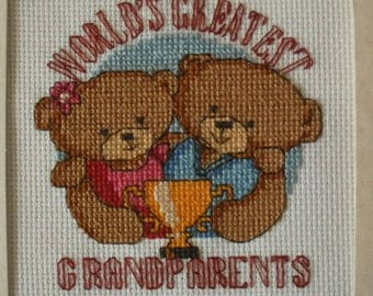 Grandparents Cross Stitch Card