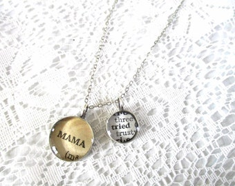 mama tried, mother's day jewelry, inspirational jewelry, secret message necklace