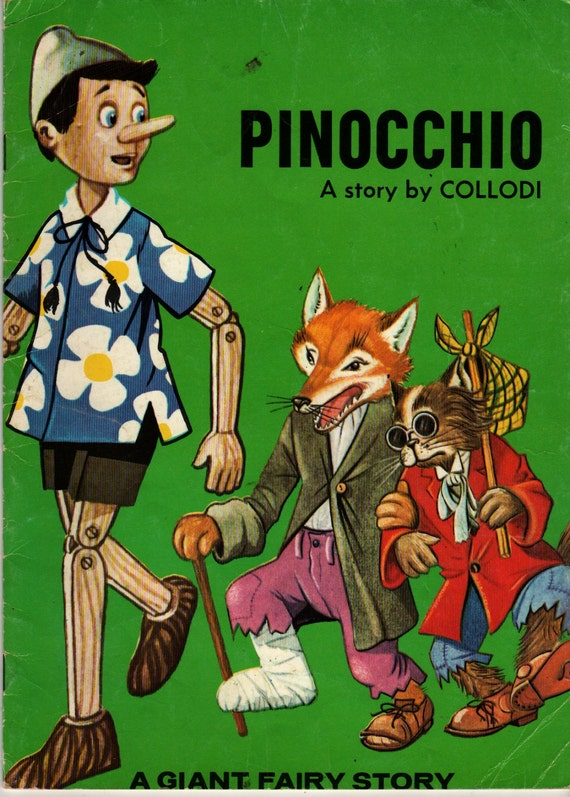 Pinocchio a Giant Fairy Story - A story by Collodi - R Canaider (?) - 1983 - Vintage Kids Book
