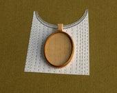 Pendant tray setting fine finished NO laser - Mahogany and maple - Organic bail - 30 x 40 mm cavity - (A2-MMp)