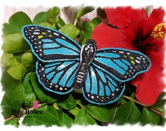 Dog Collar Butterfly, Butterfly for Dog Collar, Collar add on, Monarch Butterfly, Gifts for Dogs, Pet Collar, Blue Butterfly