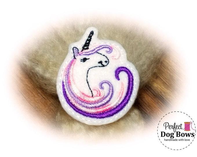 Unicorn DOG BOW, Purple Unicorn, Unicorn Party, Unicorn Birthday, Unicorn Puppy Bow
