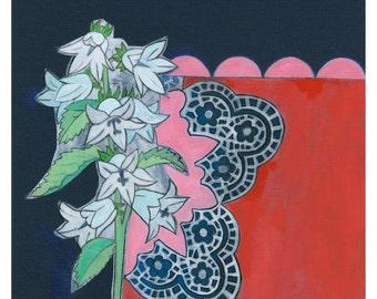 Blue Bell Flower Giclee Print