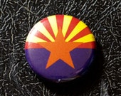 "1"" Arizona flag button, state, pin, badge, pinback"