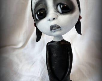 Loopy Gothic Art Doll Lowbrow Dark Goth Doll GiGi