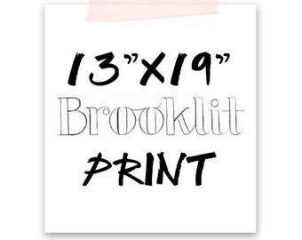 "Any 13x19"" Fashion Illustration Print-Brooklit-Brooke Hagel-Fashion Sketch"