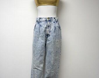 Oakbrook Sports . 80s acid wash . high waist denim jeans . size 8 . made in USA