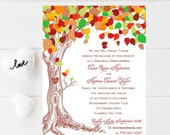 10 Tree Rehearsal Dinner Invitations - Rustic rehearsal wedding invitation - Fall Rehearsal Wedding Invitation - Rehearsal Invitation