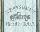 Farmers Market SVG - kitchen svg - farmhouse svg - old truck svg - farmers market truck - Commercial Use svg cut file -  svg, dfx, png, jpg