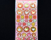 Year of the Rooster - 2017  Stickers - Japanese Chiyogami Paper Stickers - Plum Blossoms  (S290)